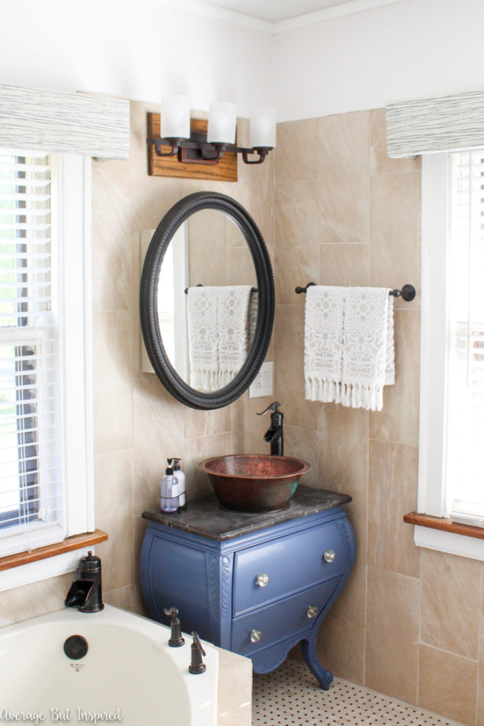 Average-But-Inspired-Blue-Master-Bathroom-Vanity-1479-683x1024 Spring 2017 ORC Participants Favorites One_Room_Challenge