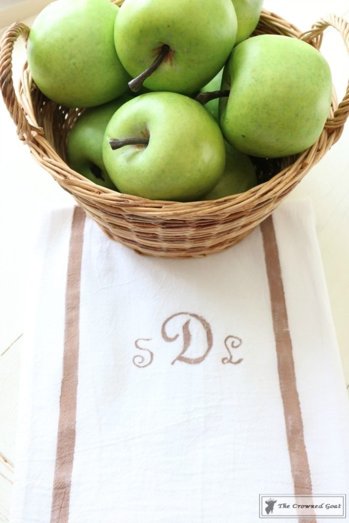 How-to-Make-a-Monogrammed-Tea-Towel-9-683x1024 17 Easy Gifts to Make Before Mother's Day Crafts DIY Spring