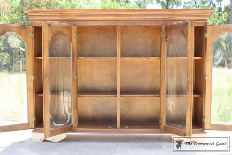 Library-Hutch-Makeover-2 The $12 Library Hutch DIY One_Room_Challenge Painted Furniture
