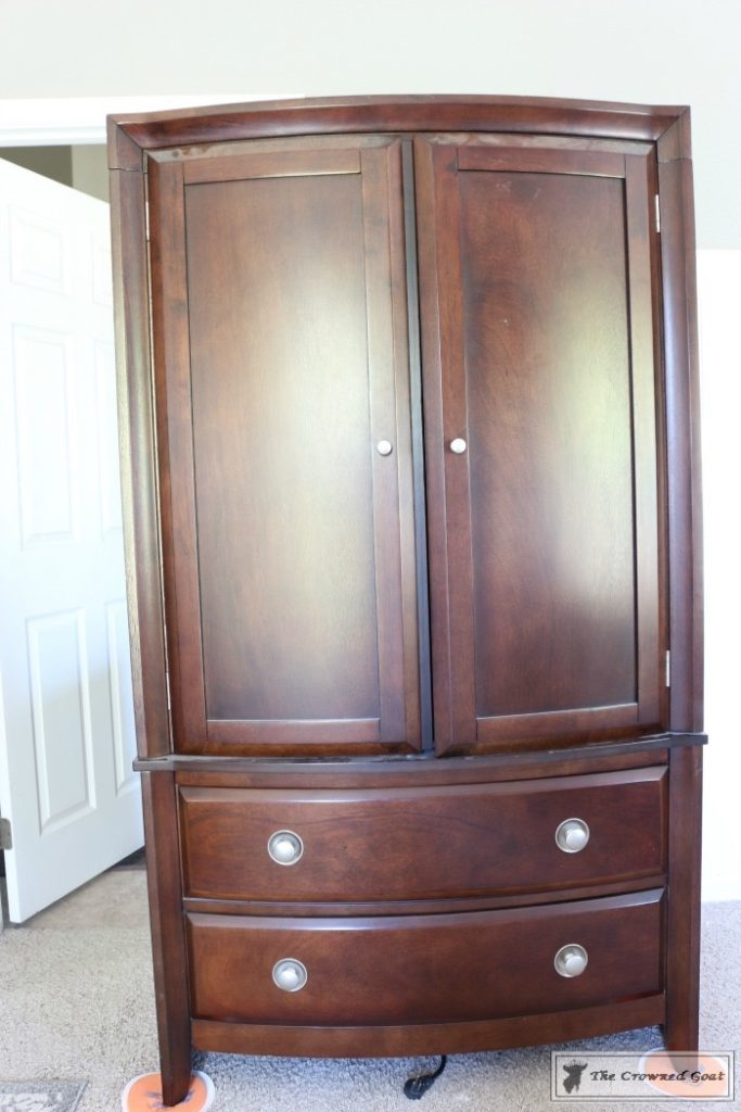 TV-Armoire-Makeover-3-683x1024 TV Armoire to Functional Wardrobe Makeover DIY One_Room_Challenge Painted Furniture