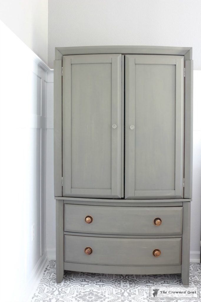 TV-Armoire-Makeover-4-683x1024 TV Armoire to Functional Wardrobe Makeover DIY One_Room_Challenge Painted Furniture
