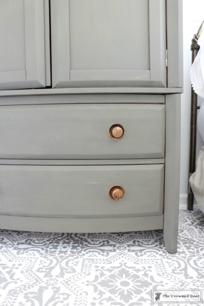 TV-Armoire-Makeover-6-683x1024 TV Armoire to Functional Wardrobe Makeover DIY One_Room_Challenge Painted Furniture