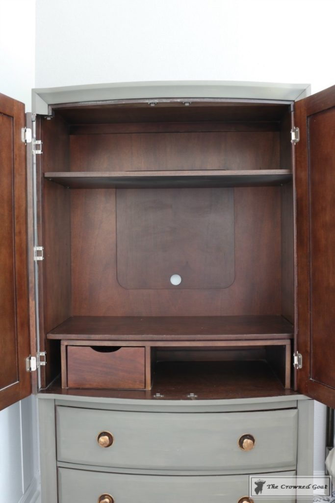 TV-Armoire-Makeover-8-683x1024 TV Armoire to Functional Wardrobe Makeover DIY One_Room_Challenge Painted Furniture