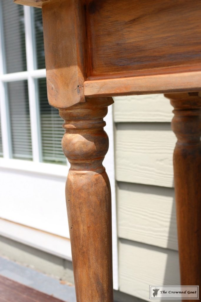 Using-Dark-Furniture-Wax-to-Cover-Orange-Pine-11-683x1024 Before & After Console Table: Using Dark Wax as a Stain DIY One_Room_Challenge Painted Furniture