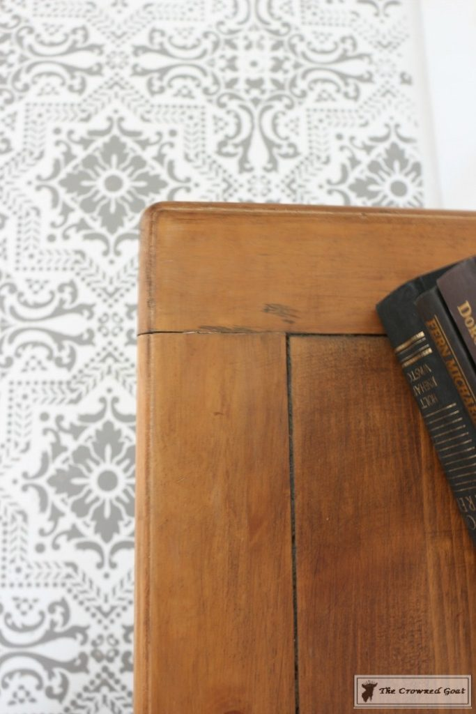 Using-Dark-Furniture-Wax-to-Cover-Orange-Pine-12-683x1024 Before & After Console Table: Using Dark Wax as a Stain DIY One_Room_Challenge Painted Furniture