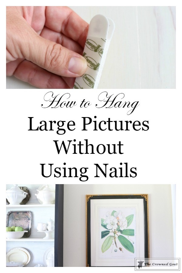 Hang-Large-Art-Without-Nails-6 How to Hang Large Pictures Without Using Nails Decorating DIY