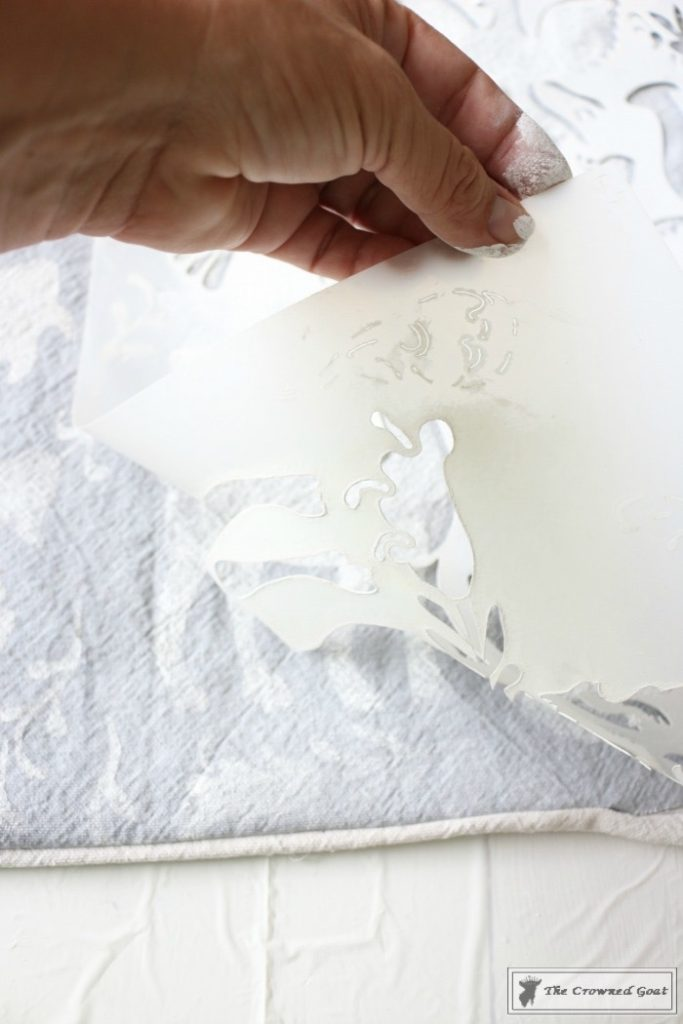How-to-Stencil-a-Pillow-Cover-9-683x1024 Stenciled Pillows Made Easy Decorating DIY