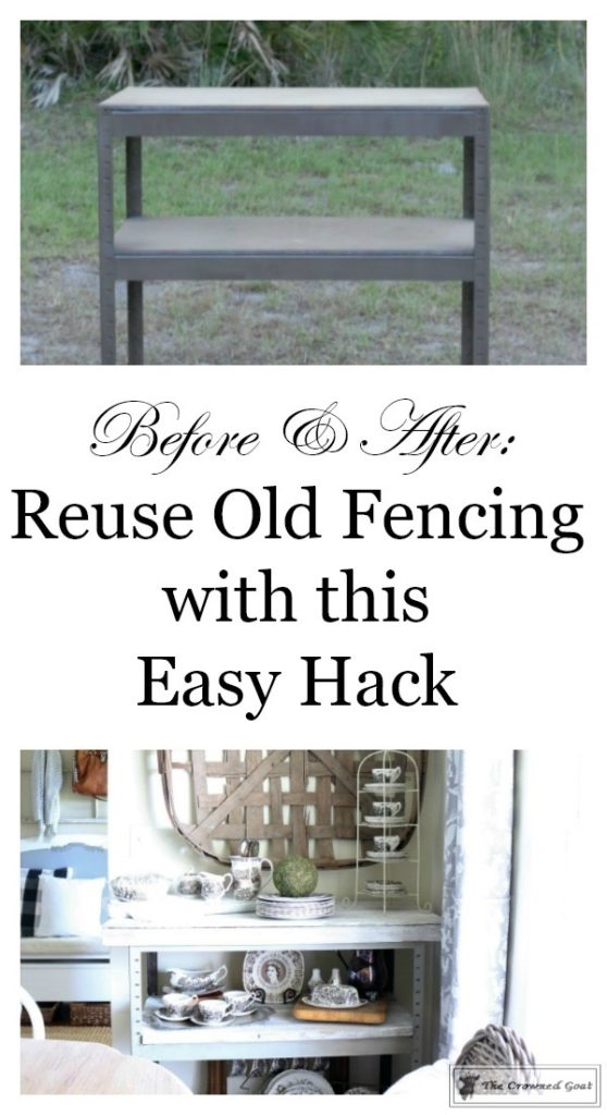 A-Simple-Way-to-Repurpose-Old-Fencing-The-Crowned-Goat-3-558x1024 Repurpose Old Fencing with This Easy Hack Decorating DIY Painted Furniture