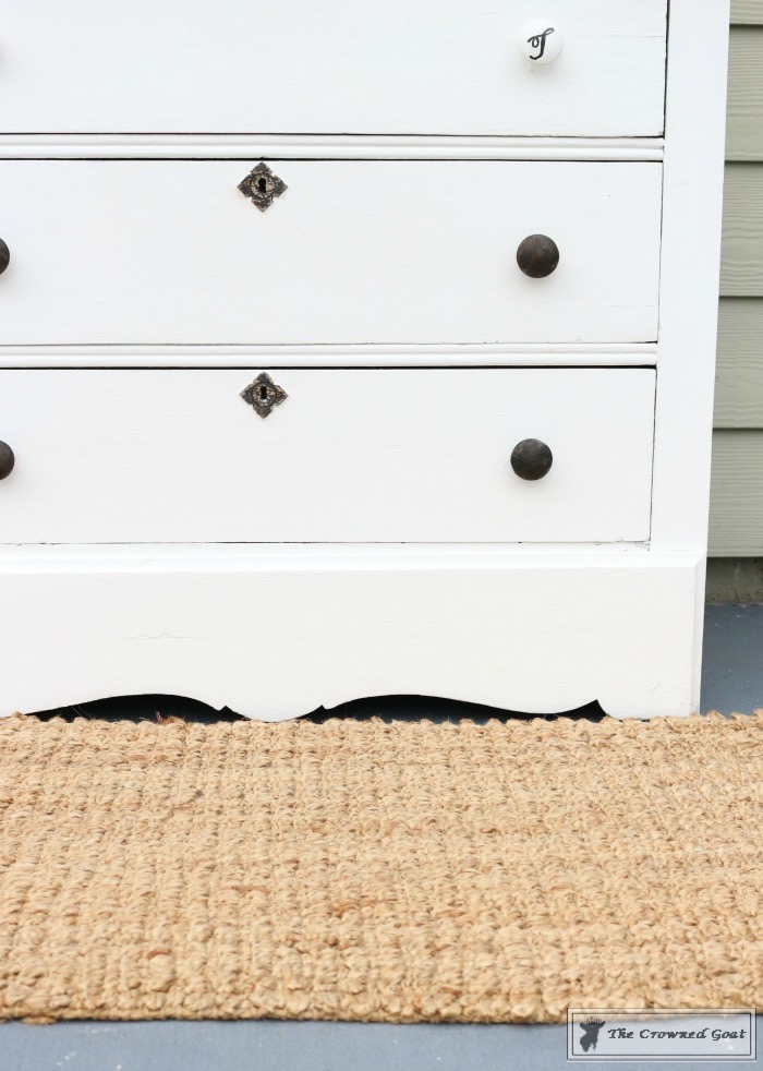 How-to-Create-a-Laundry-Room-Folding-Station-from-a-Dresser-The-Crowned-Goat-9 Creating a Laundry Room Folding Station from a Dresser DIY Painted Furniture